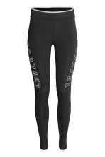 Compression fit running tights - Black - Ladies | H&M 2